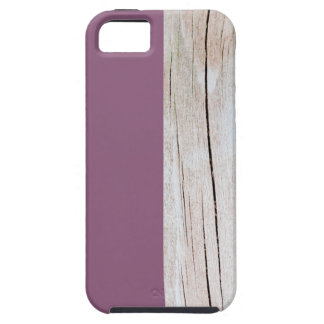 Coques iPhone 5 Purple + Wood