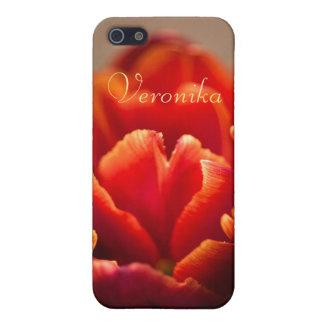 Coques iPhone 5 Tulipe rouge