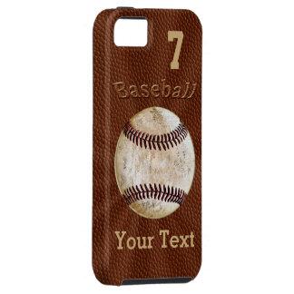 Coques iphone de base-ball avec VOTRE NOMBRE et