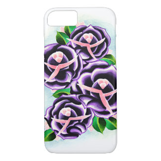 Coques iphone pourpres de roses