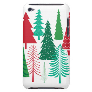 Coques iPod Case-Mate arbres de Noël contemporains modernes