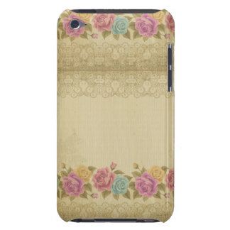 Coques iPod Case-Mate chic rustique et minable, floral, roses,