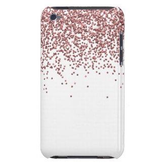 Coques iPod Case-Mate Parties scintillantes roses étincelantes d'or