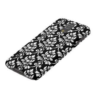 Coques Pour Galaxy S5 Blanc de motif de damassé de Feuille grand sur le