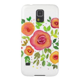 Coques Pour Galaxy S5 Bouquet floral de fleurs lumineuses, peinture
