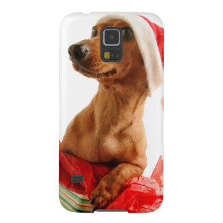 Coques Pour Galaxy S5 Le teckel père Noël - le chien de père Noël -