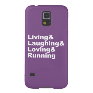 Coques Pour Galaxy S5 Living&Laughing&Loving&RUNNING (blanc)