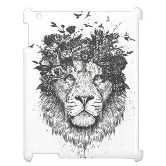 Coques Pour iPad Lion floral (noir et blanc)