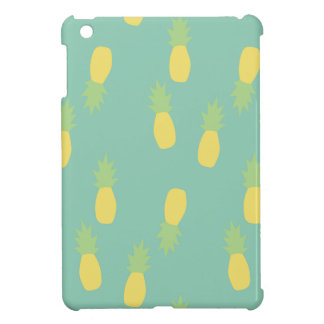Coques Pour iPad Mini Ananas arrière exotique bleu en pastel d'amour de