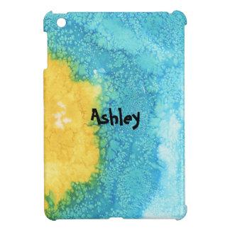 Coques Pour iPad Mini Aquarelle bleue/jaune
