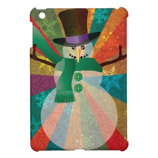 Coques Pour iPad Mini Bonhomme de neige de Noël avec les flocons de
