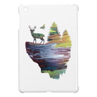 Coques Pour iPad Mini Cerfs communs sur une île de flottement