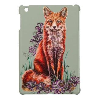 Coques Pour iPad Mini Dessin d'art animal rouge et de lis de Fox