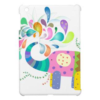 Coques Pour iPad Mini Éclaboussement coloré d'éléphant