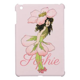 Coques Pour iPad Mini Fée rose vintage Personnalised de fleur