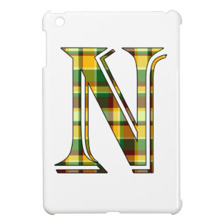 Coques Pour iPad Mini Initiale de plaid de N