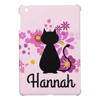 Coques Pour iPad Mini Le chat dans le rose fleurit la mini caisse
