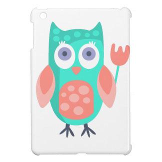 Coques Pour iPad Mini Le hibou avec la partie attribue génial stylisé