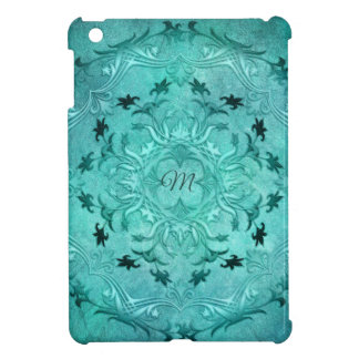 Coques Pour iPad Mini Mandala floral ethnique de grunge de turquoise.