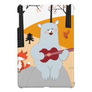 Coques Pour iPad Mini Mignon chantez un loup de renard de chanson d'été