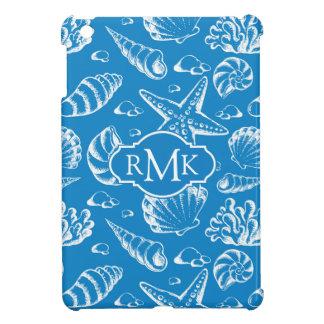Coques Pour iPad Mini Monogramme bleu du motif | de plage