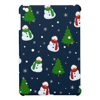 Coques Pour iPad Mini Motif de bonhomme de neige