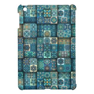 Coques Pour iPad Mini Patchwork vintage avec les éléments floraux de