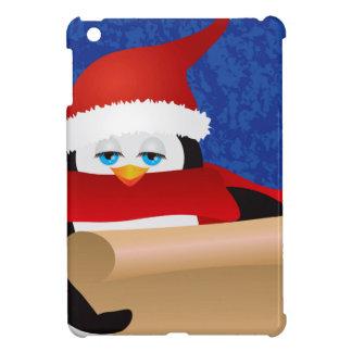Coques Pour iPad Mini Pingouin Père Noël tenant l'illustration de