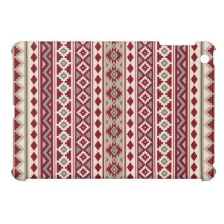 Coques Pour iPad Mini Sable crème d'essence de gris rouges aztèques de