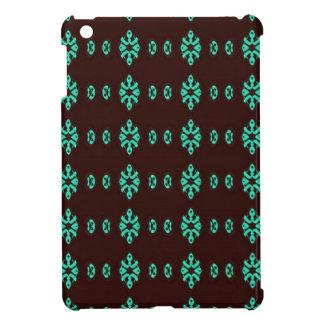 Coques Pour iPad Mini Vert au néon moderne sur le motif noir