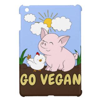 Coques Pour iPad Mini Vont le végétalien - porc et poulet mignons