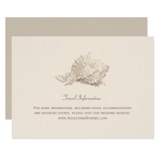 Coquillage en ivoire de la carte | de carton d'invitation 8,89 cm x 12,70 cm
