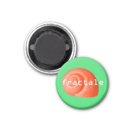 Coquillage. Fractale Magnet Carré 2,50 Cm