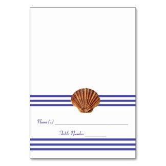 Coquillage nautique - carte d'escorte
