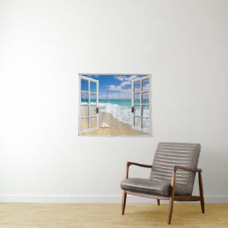 Coquillage sur la tenture de plage
