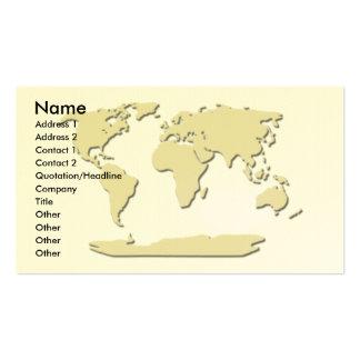 Coquille d'oeuf de carte de visite de carte du mon