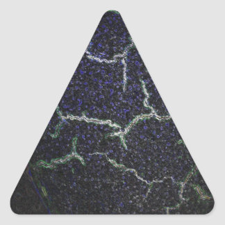 coquille se brisante sticker triangulaire