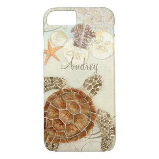 Coquilles côtières de mer de plage de tortue de coque iPhone 7