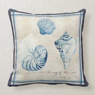 Coquilles d'aquarelle de carnet à dessins de plage oreiller