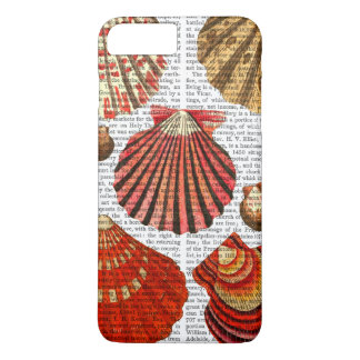Coquilles rouges de palourde coque iPhone 8 plus/7 plus