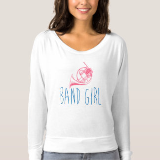 Cor de harmonie de fille de bande t-shirt