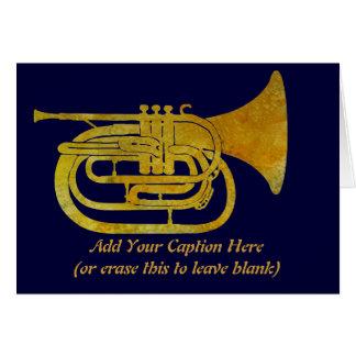 Cor de harmonie de marche d'or cartes