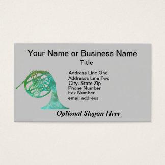 Cor de harmonie de vert-de-gris cartes de visite
