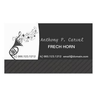 Cor de harmonie   d'orchestre carte de visite standard