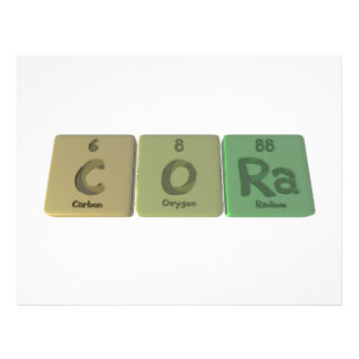 Cora en tant que radium de l oxygène de carbone prospectus personnalisés