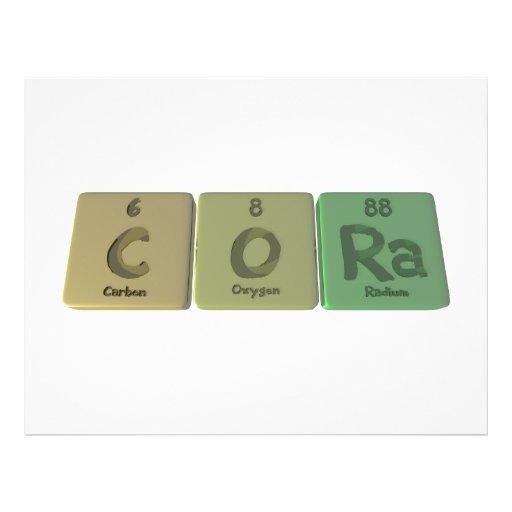 Cora en tant que radium de l'oxygène de carbone prospectus personnalisés