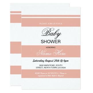 Corail de baby shower et invitation chic de partie