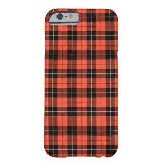 Corail de clan de Wallace et tartan antique noir Coque Barely There iPhone 6