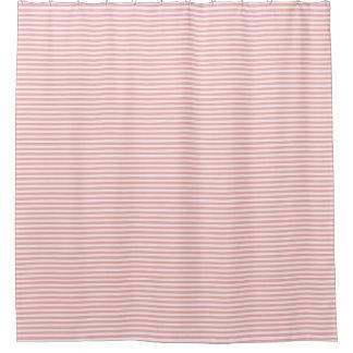 Corail et rideau en douche rayé blanc