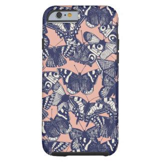 corail pâle de papillon coque iPhone 6 tough